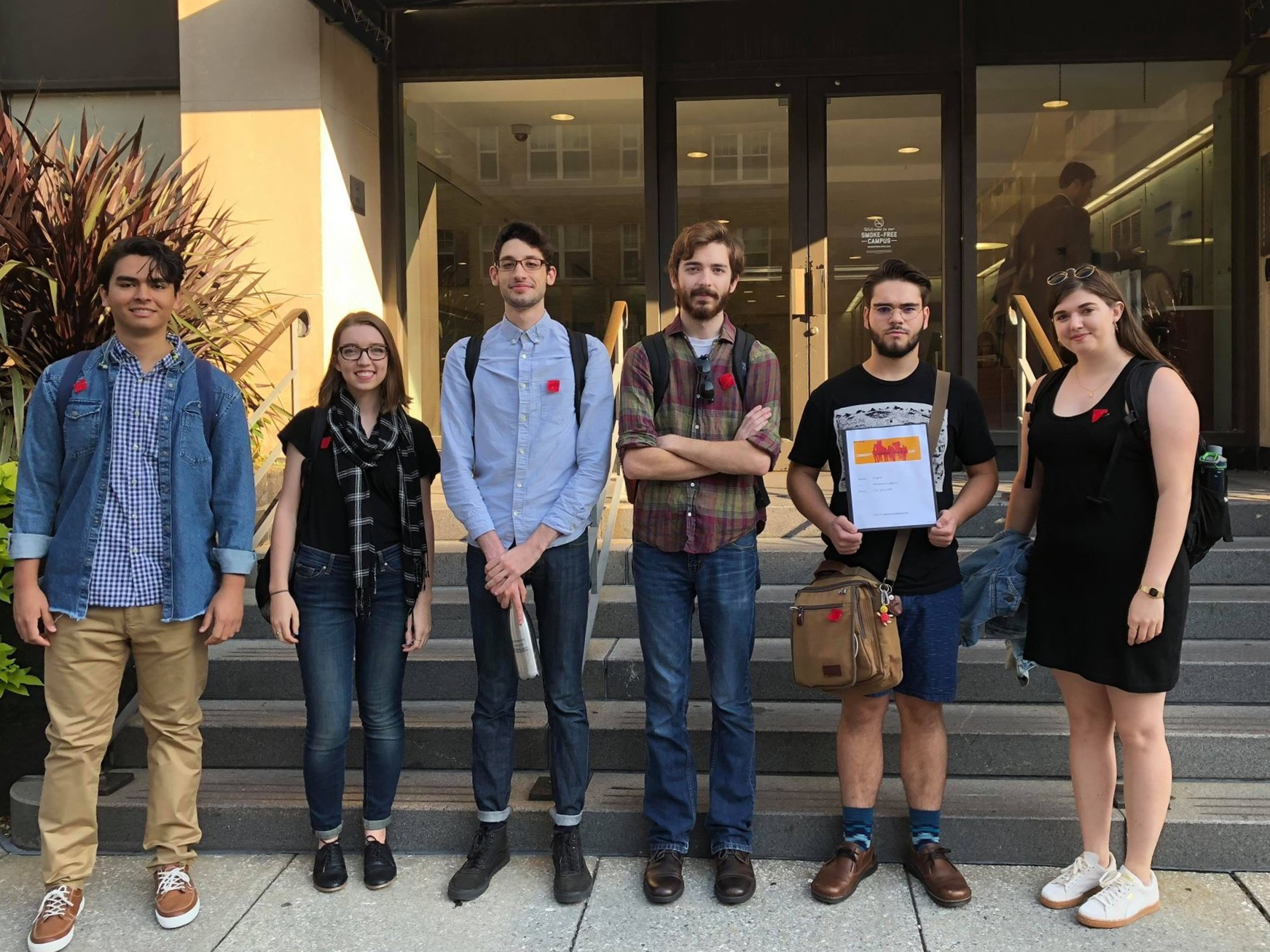 - On October 1, 2018, Fair Jobs GW organizers delivered our demands to President LeBlanc's office.