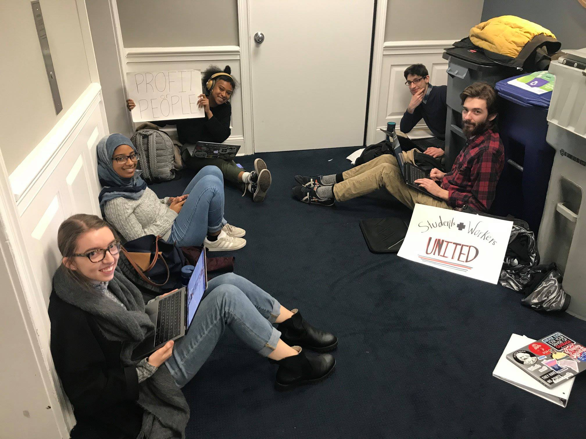 - Fair Jobs organizers ended the Fall 2018 semester with a sit-in at President LeBlanc's office, asking him to explain why GW administrators get paid millions while the lowest-paid worker at GW only makes $14.50 an hour.