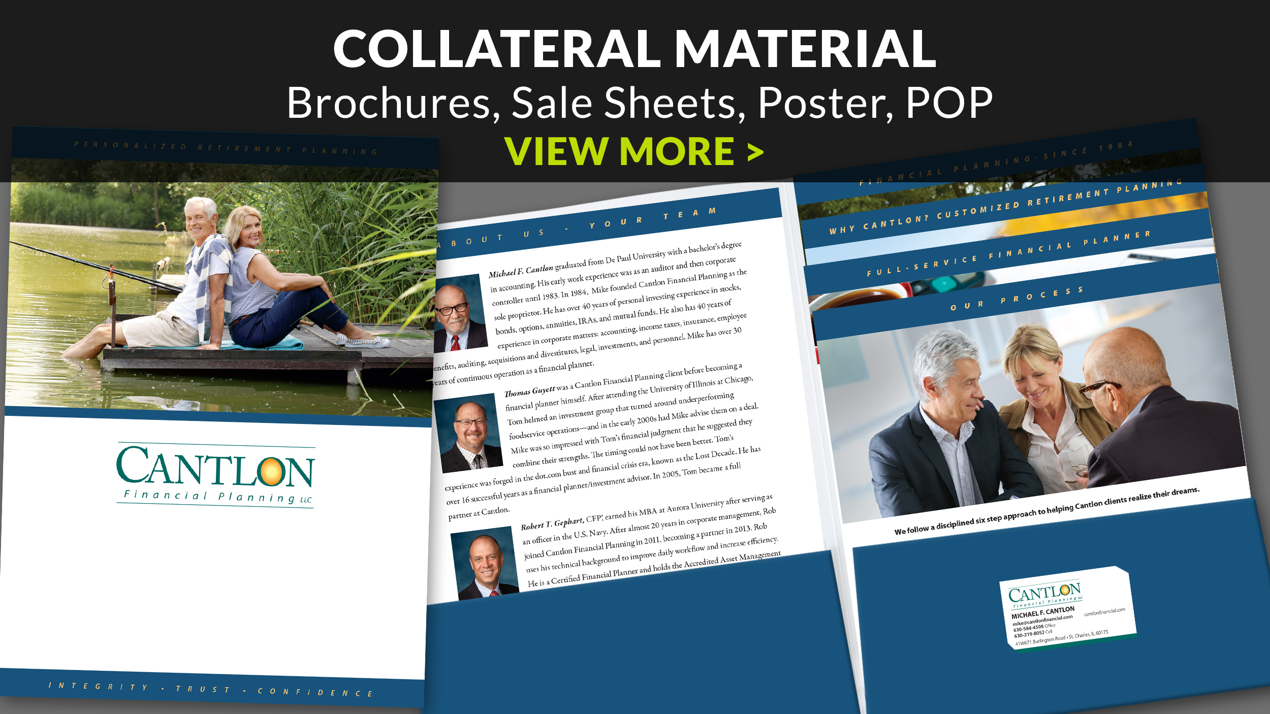 Collateral - Brochures, Sale Sheets, Poster, POP -    View More >