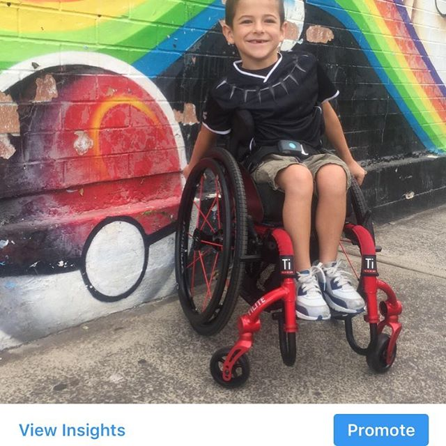 Evander is so happy with his new wheelchair that arrived this week in his favourite colour #redgoesfaster  We will be trialling a small size loop+ pad in it starting this weekend to monitor Evander's activity. And with 7year old there is loads of it @permobil  #permobiltwist #newwheelchair #ndis @ndis_australia  #cantstophim #keepmoving #wheelchairkids #wheelchairlife #wheelchairsports #wheeliesaroundtheworld #wheelchairs #assistivetechnology #assistivetech #ATSAsydney #specialneedskids #loop+ @neuroreabilitar @neuromoves @enableexercise