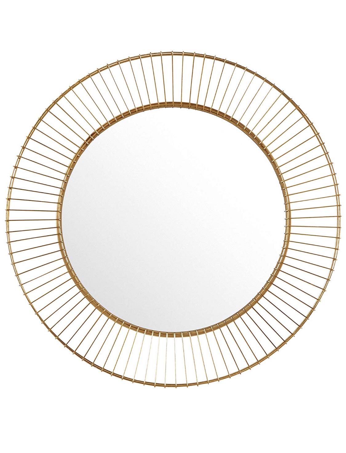 Rivet Modern Round Iron Circle Metal Hanging Wall Mirror - Amazon