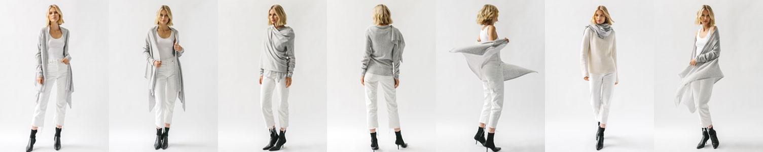 different ways to wear cashmere wrap