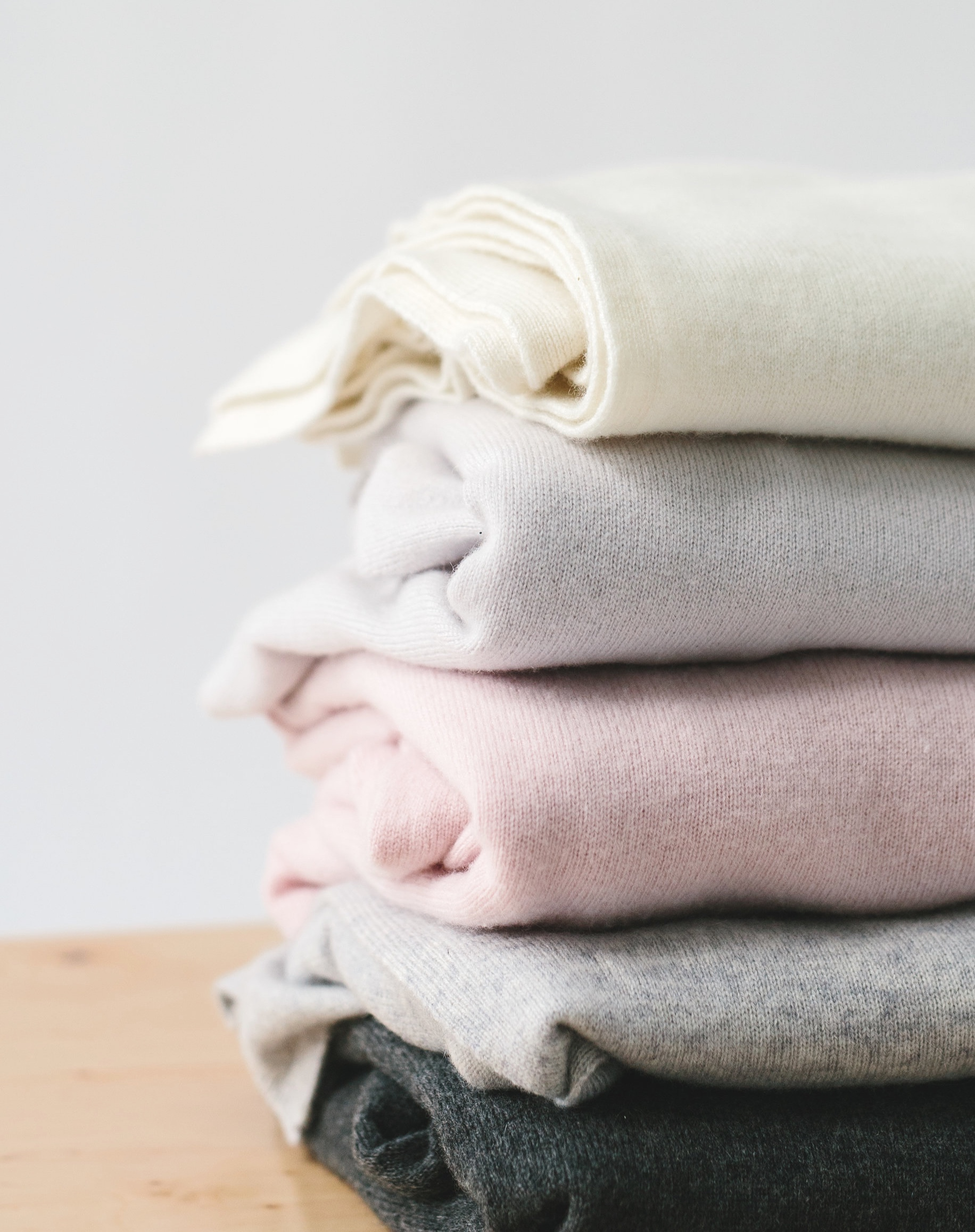 women's cashmere sweaters in different colors