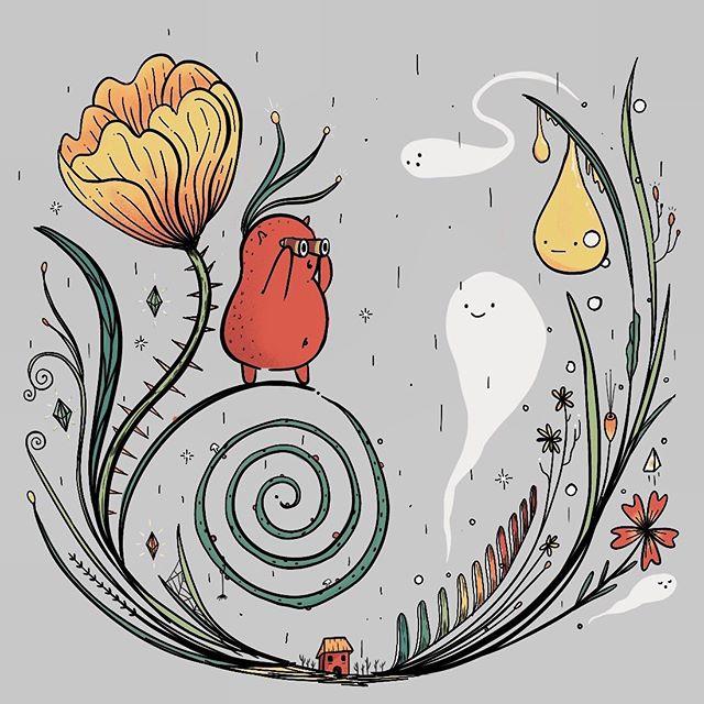 *~she who seeks will find~* . . . . . #illustration #procreate #illustrator #creatures #kawaii