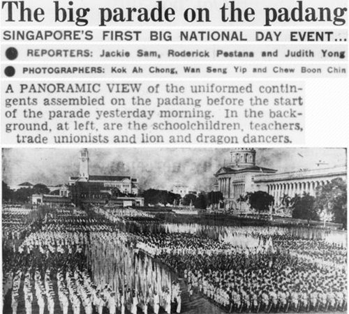 The first National Day parade Aug 1966