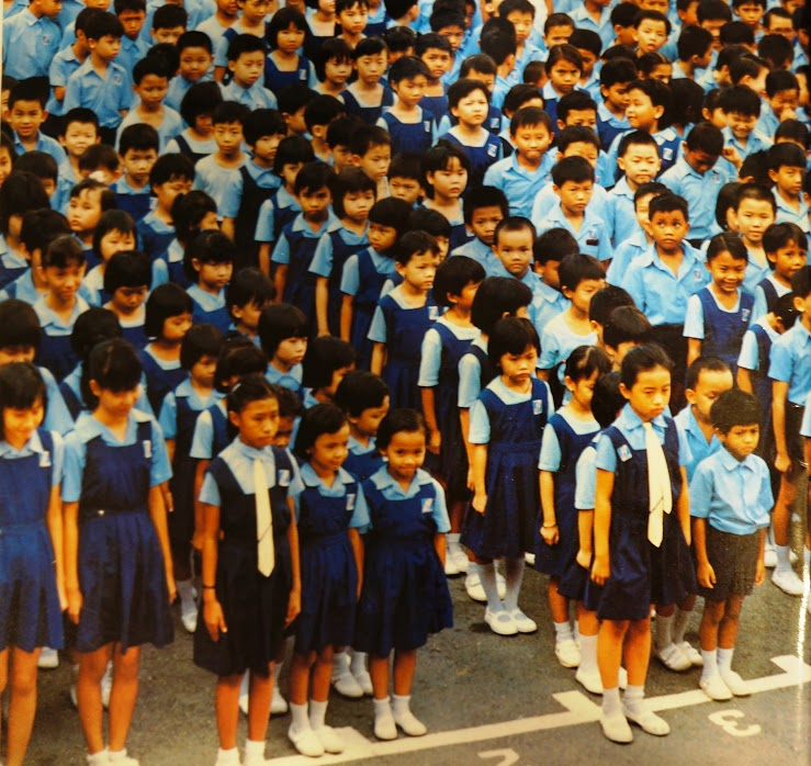 Pri Sch Students At Assembly (1980s).JPG