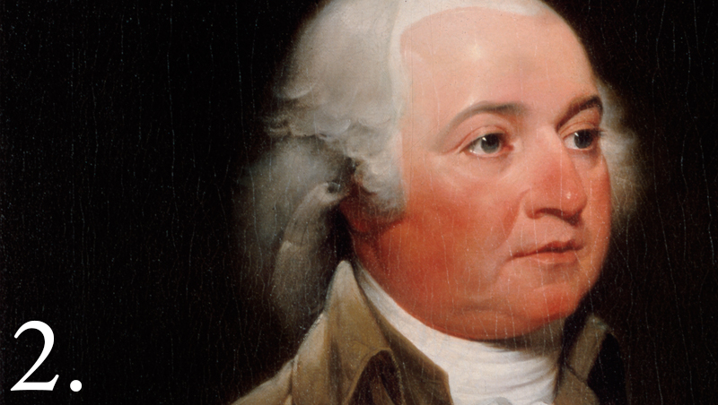 John Adams, the second president of the US. Not to be confused with James Madison, the fourth president of the US.