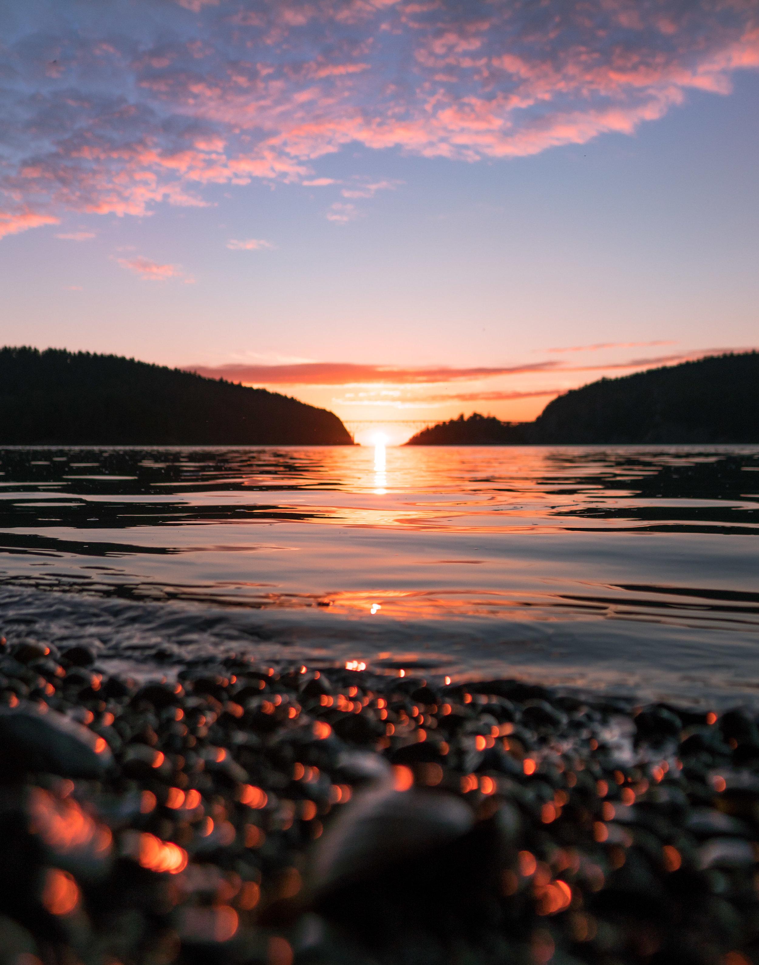 Sunset at Deception Pass