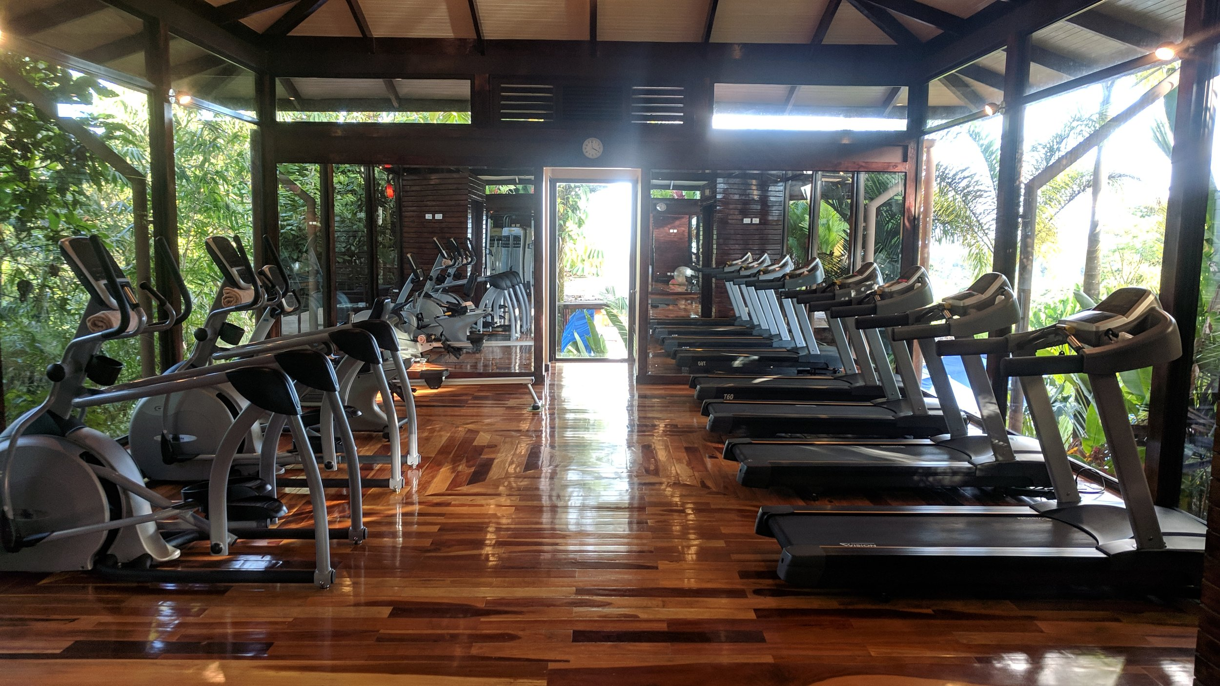 The fitness center was great. Plenty of equipment, lots of natural sunlight, and it was well air conditioned / ventilated.