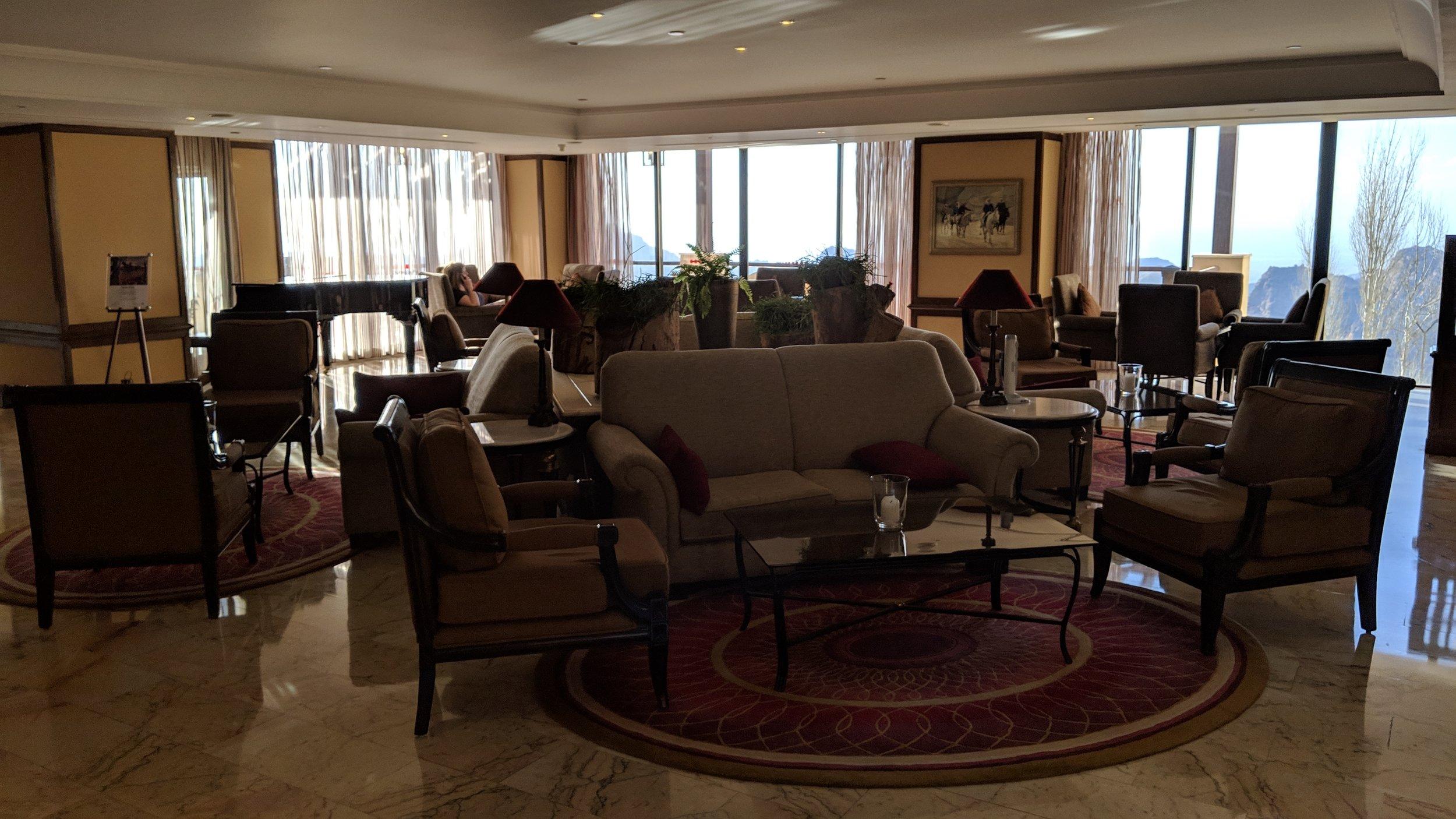 Petra Marriott Hotel Lobby area.
