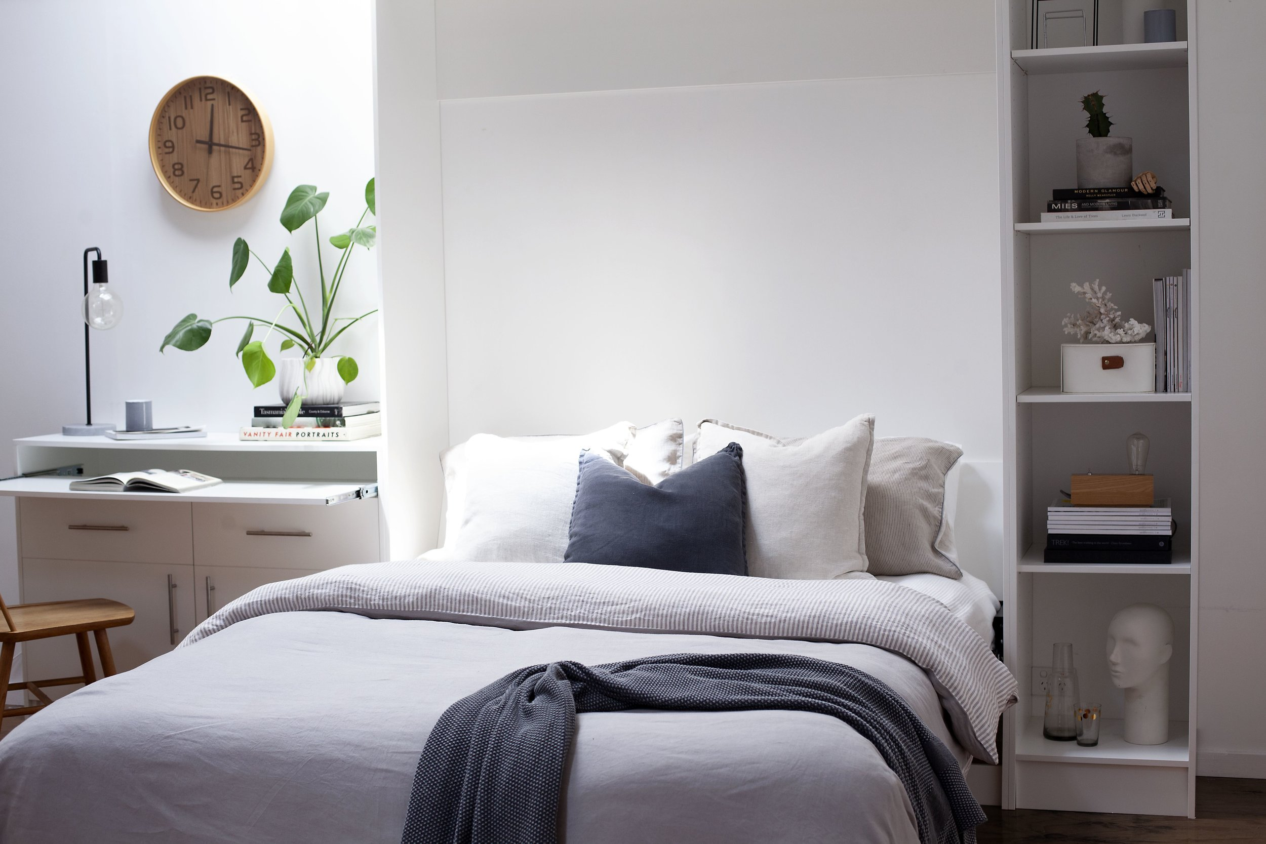 Alpha Bed with Bookcase