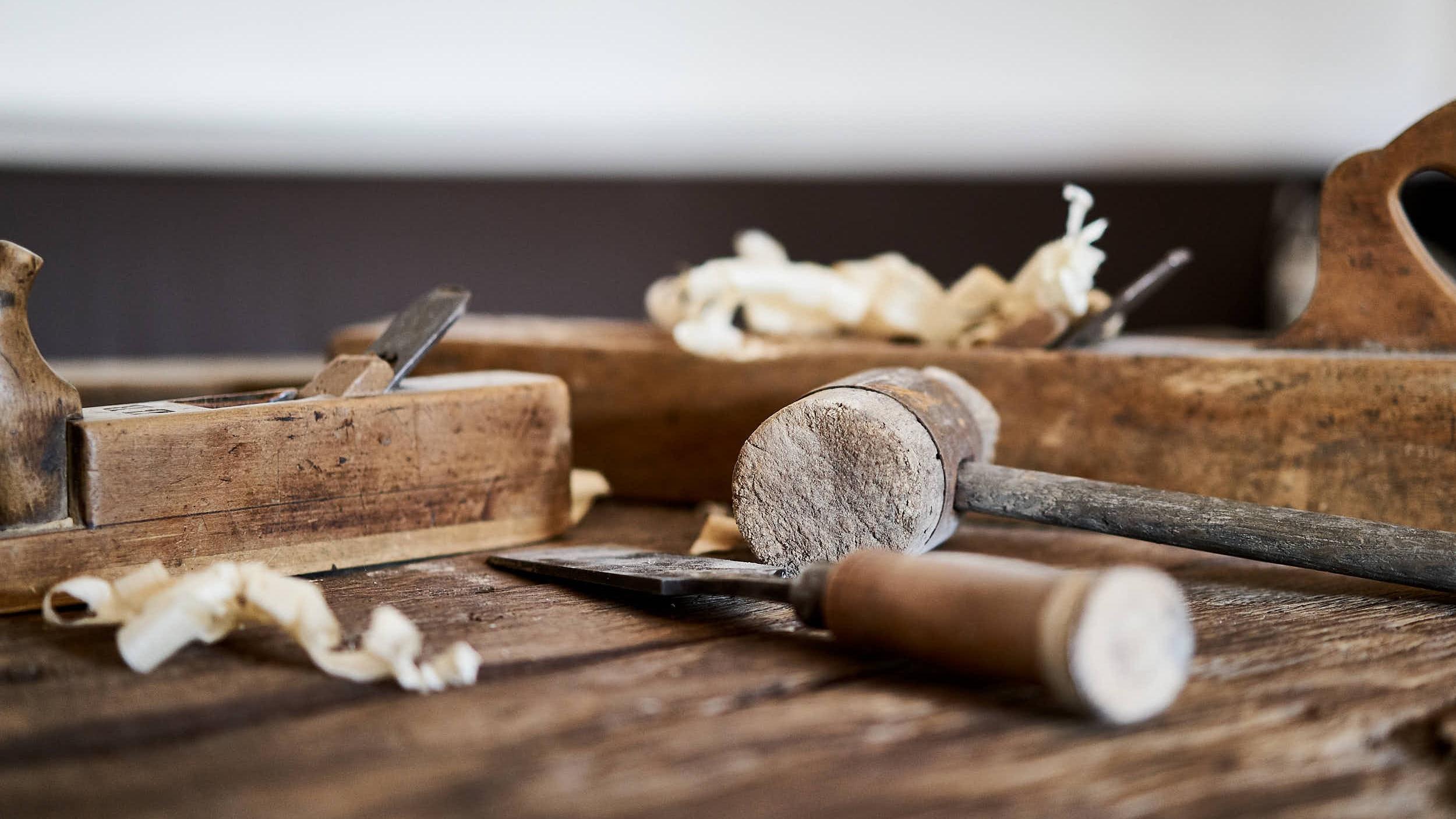 Schreiner Werkzeuge in der Schreinerei Andreas Gerg aus Lenggries