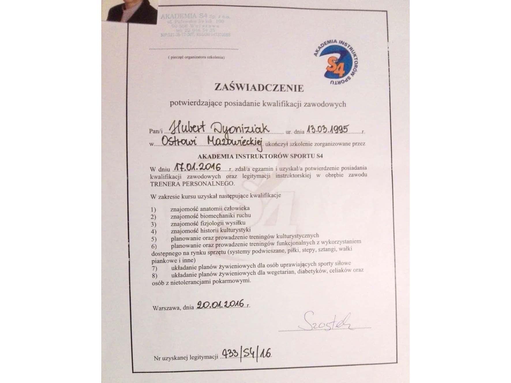 Certyfikat Hubert Dyoniziak.jpg