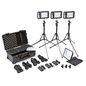 CONTENTS - 1. 3 Manfrotto Lykos lights2. Tripod3. Pelicase