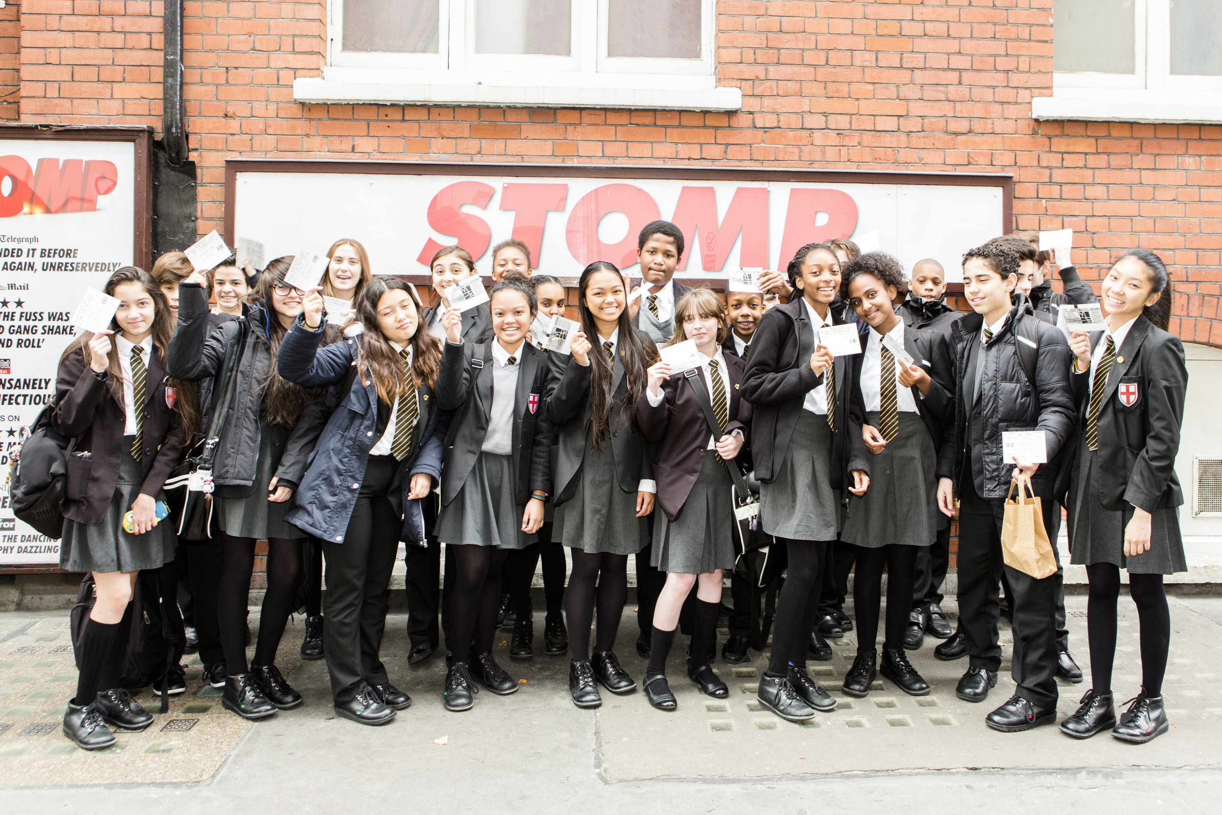 Students from St George's Catholic School attend Mousetrap School's matinee of STOMP credit Luke Varley.jpg