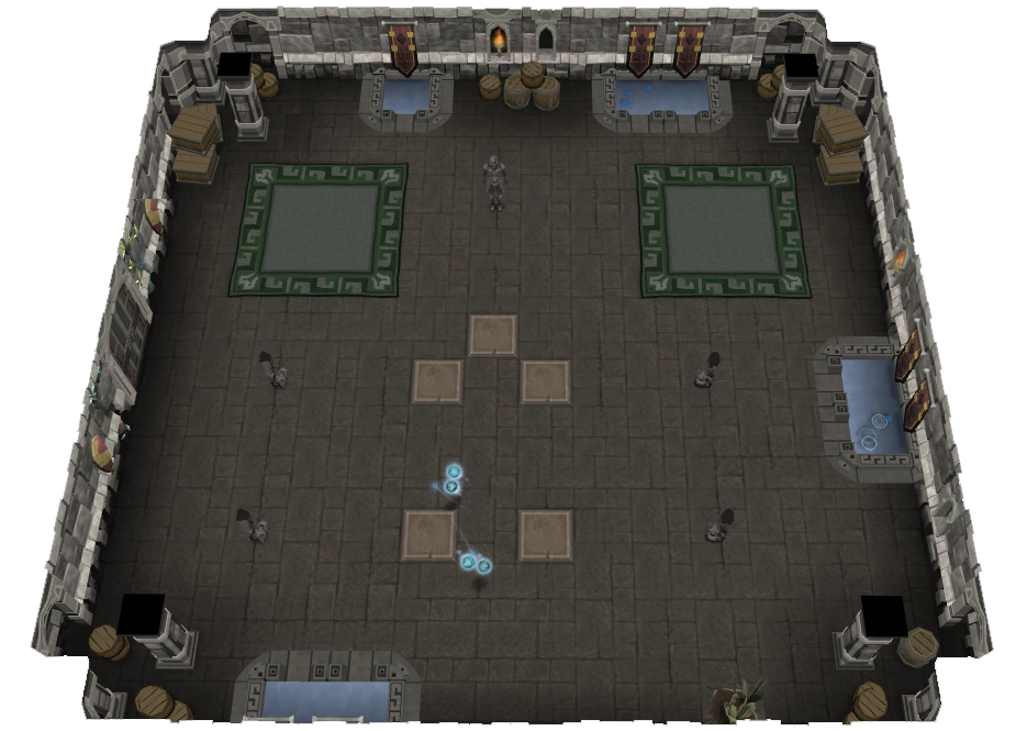"""- The host may state """"gt emotes"""" during a floor, in which case you will need to teleport and stand on an available pad. Copy the emote of the statue in front of you 3 times consecutively.Please familiarise yourself with the following 5 options;1) Wave2) Nod Head3) Shake Head4) Laugh5) Cry"""