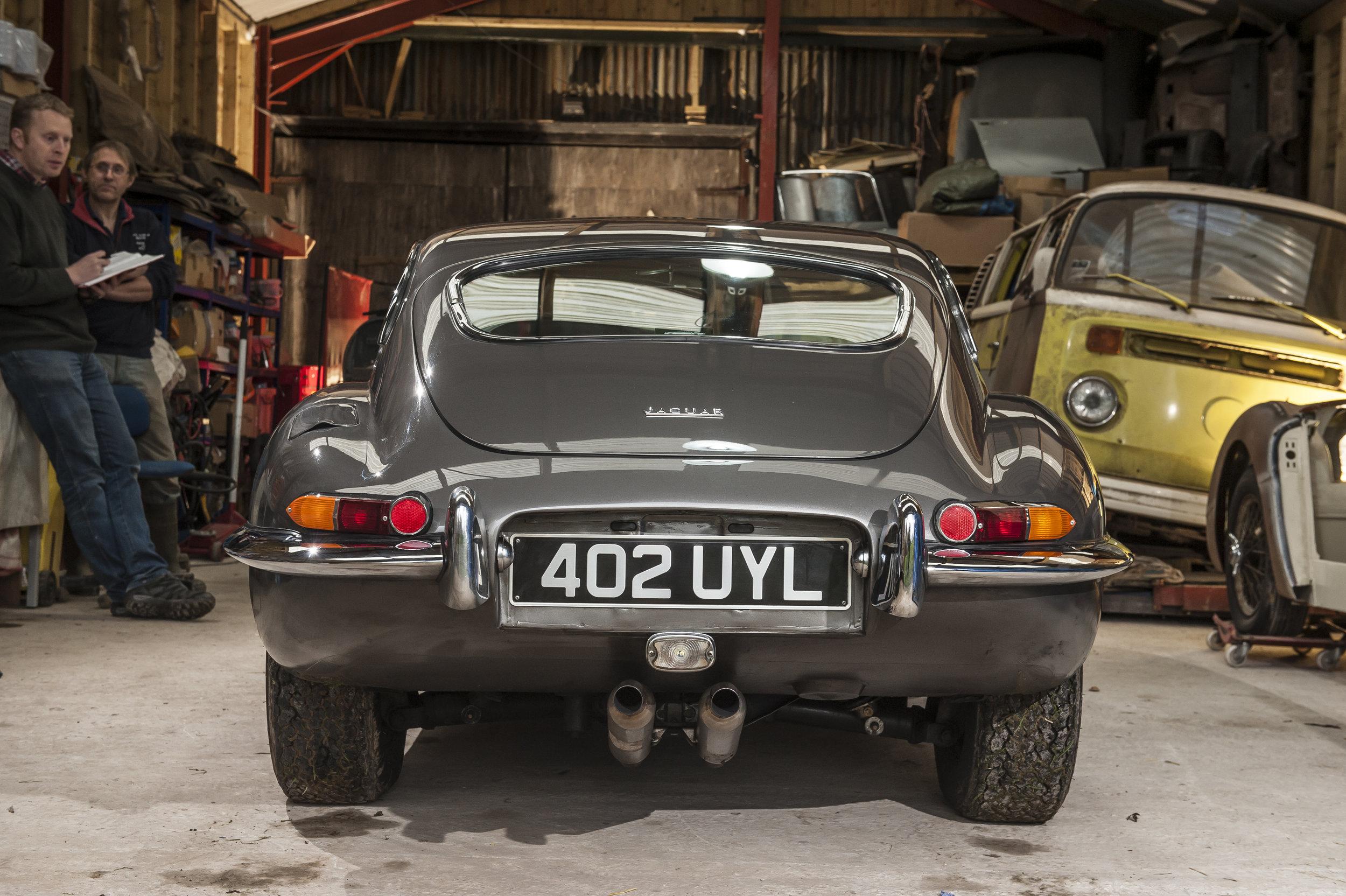 Rear View of restored Jaguar E-type.jpg