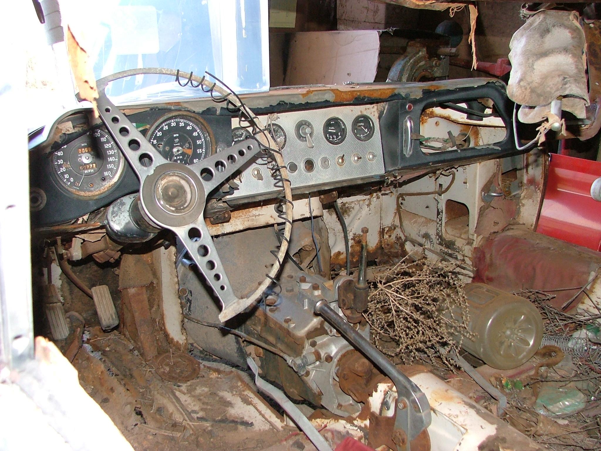Inside an unrestored Jaguar E-type.jpg