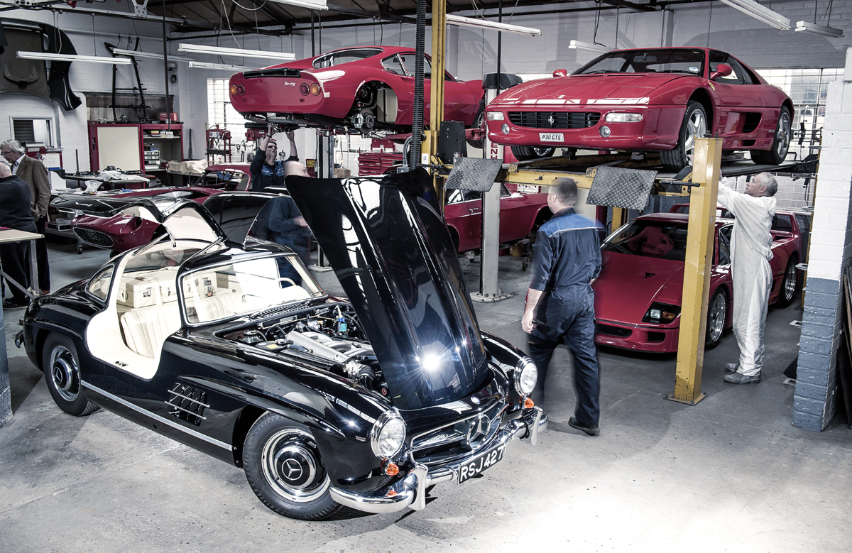 The road-going 300 SL evolved from the 1952 Le Mans-winning racing car. Its complex construction makes renovation tricky