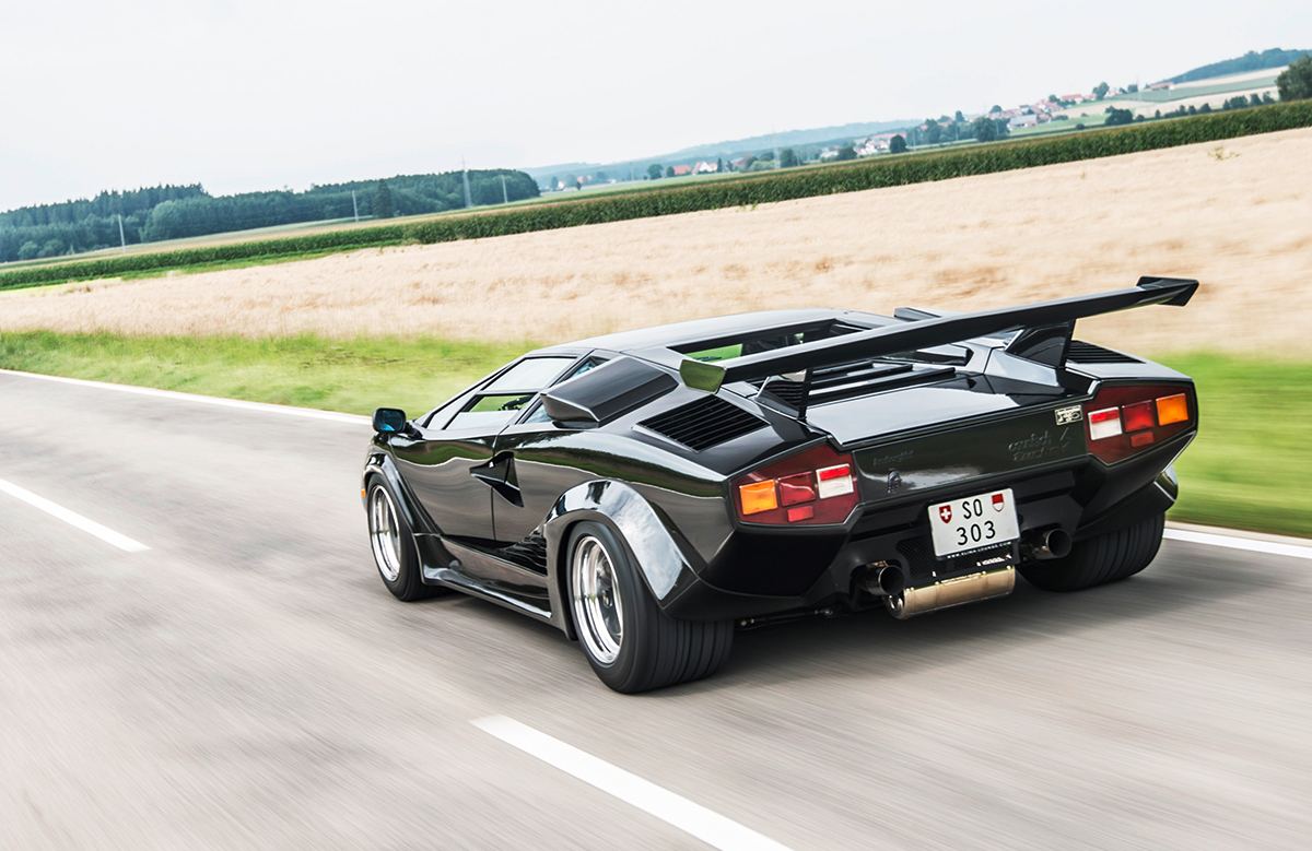 The Countach feels fast enough to have accelerated from 1984 to the present day in the blink of an eye