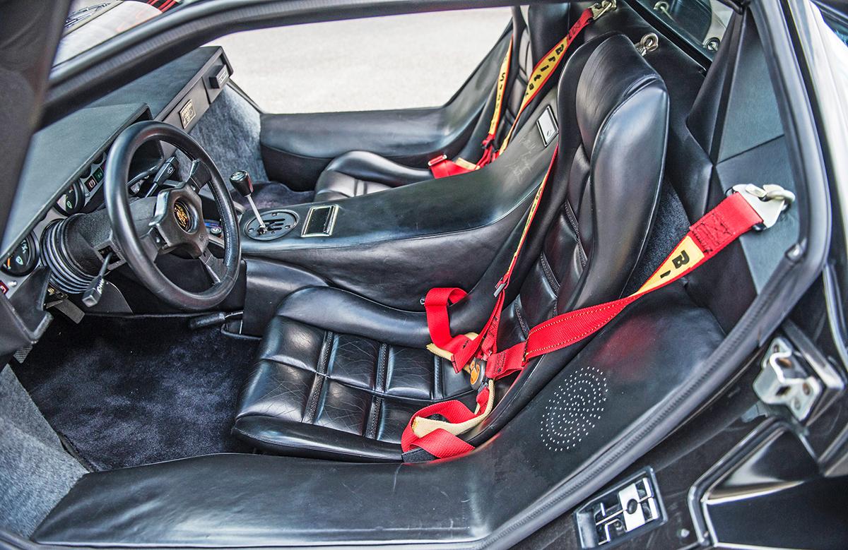 Leather-clad space pod interior, ready for blast-off. Just add Barbarella...