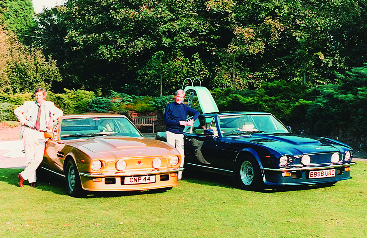1988: Neil sung the praises of his Aston to friend Christopher Milne (right), who promptly went out and bought one
