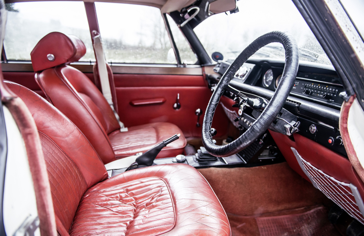 Despite its rally car intent, the interior is as plush as any contemporary road car