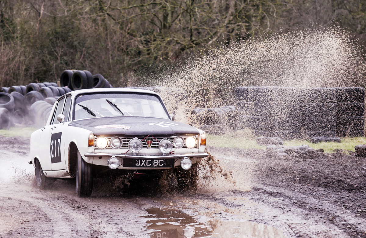 It's been restored twice – but it's a rally car, this is what it does best