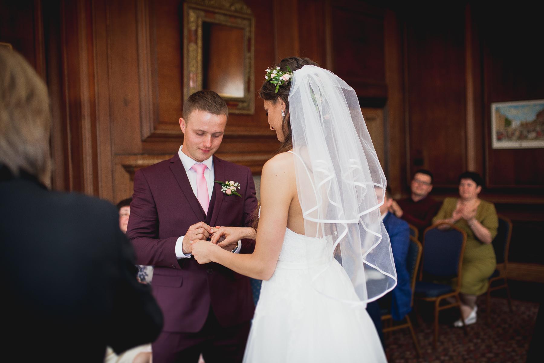 Ring exchange West Sussex Weddings Ieva Vilcinskaite