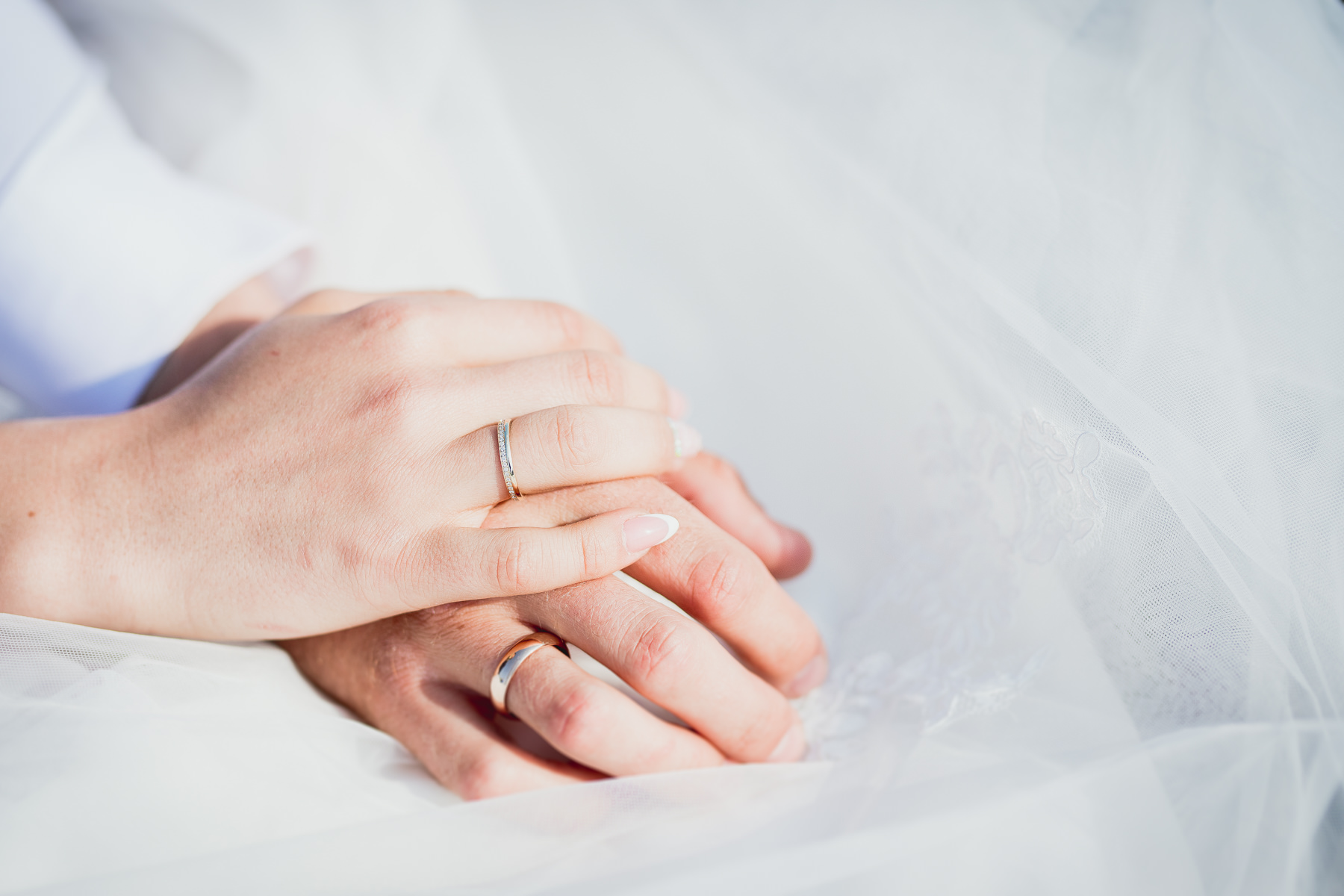 Marriage Rings in white background