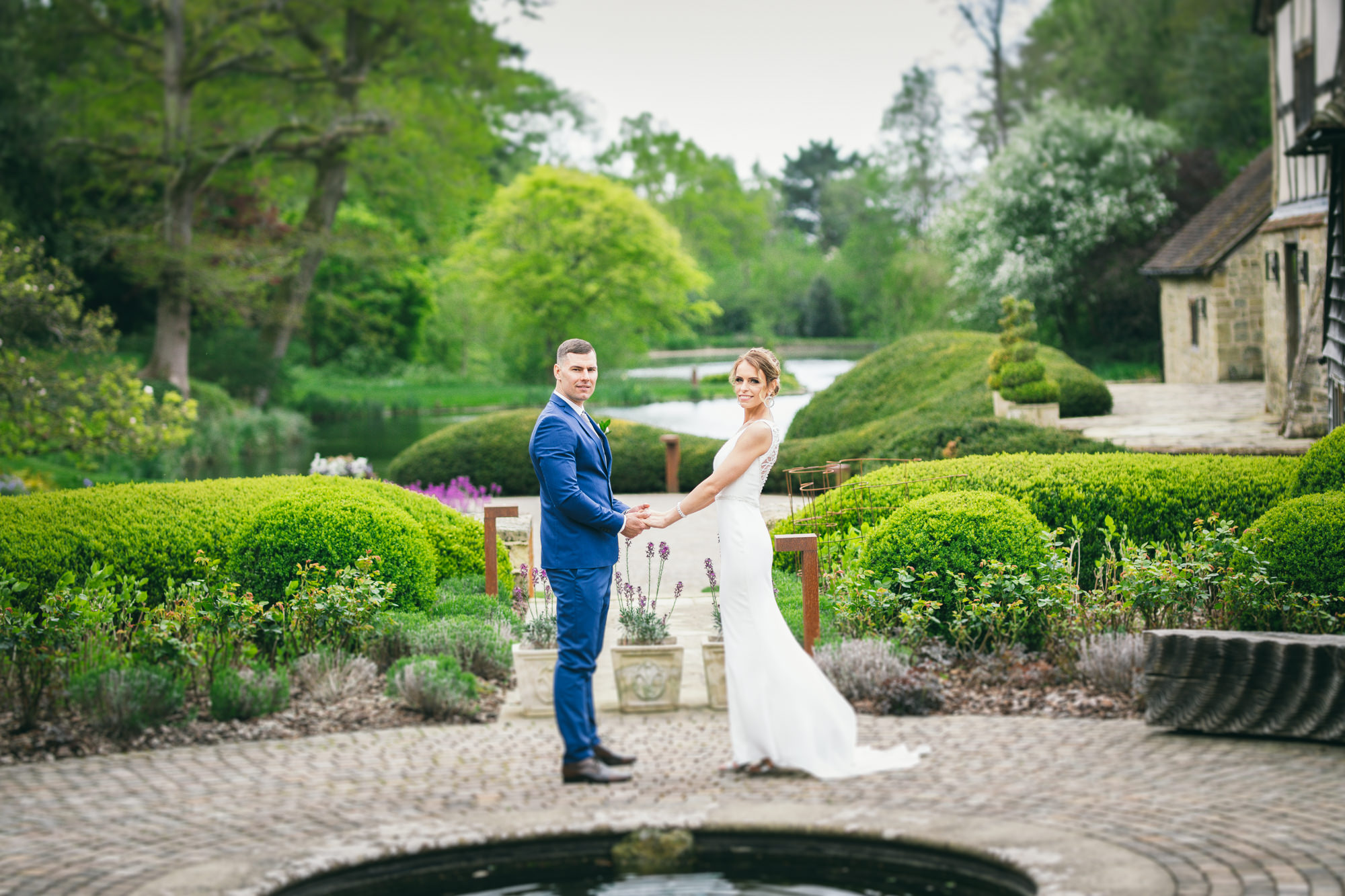 Bride and Groom Rustic Barn Wedding Photography in Nyetimber Sussex