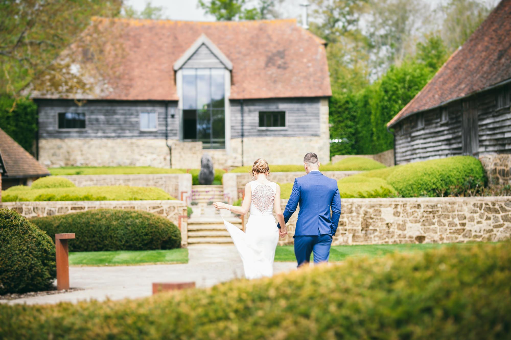 Bride and Groom Rustic Barn Wedding Photography in Nyetimber Sussex Ieva Vilcinskaite Photography