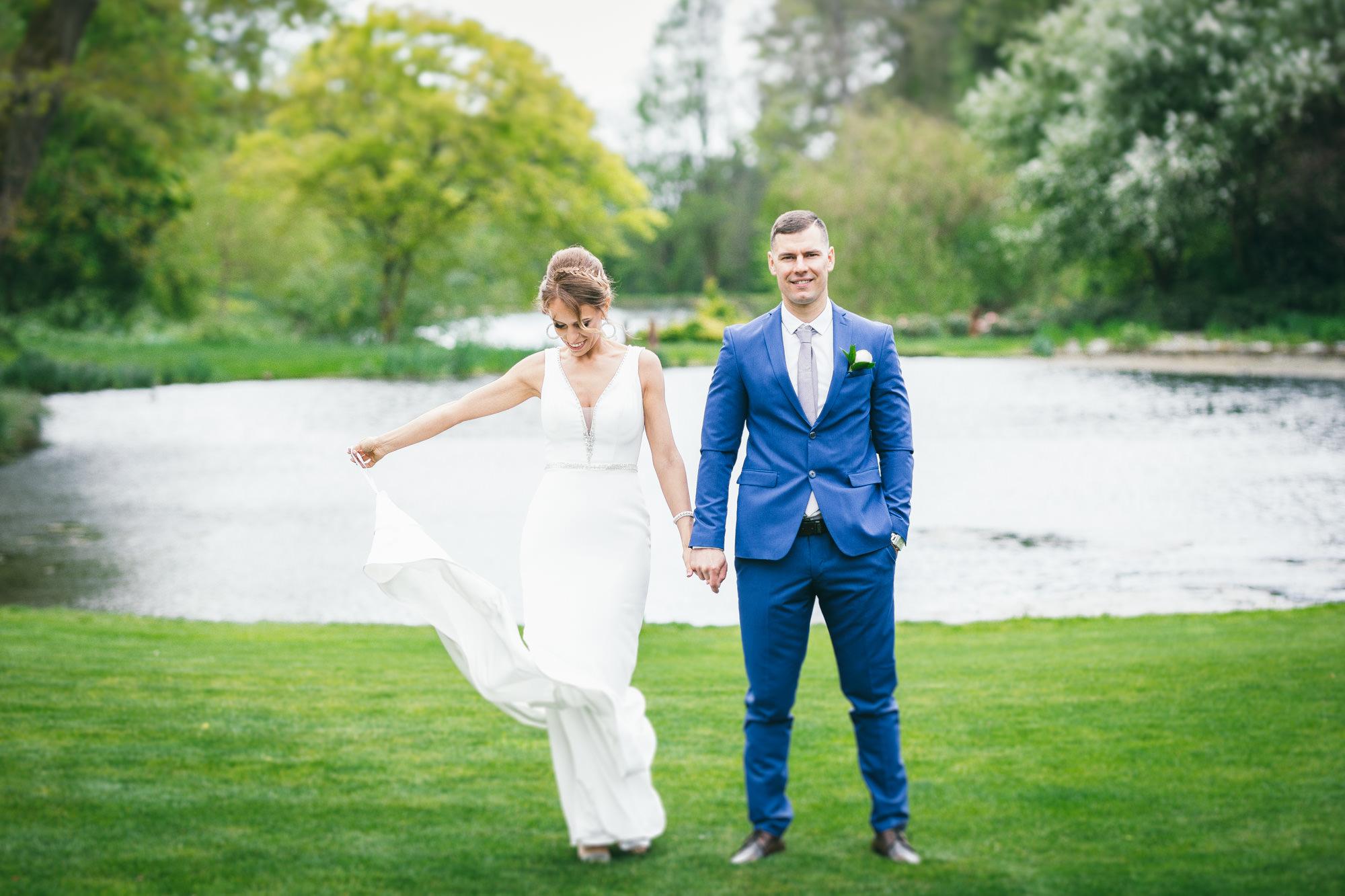 Bride and Groom outdoor natural light portrait Ieva Vilcinskaite Photography