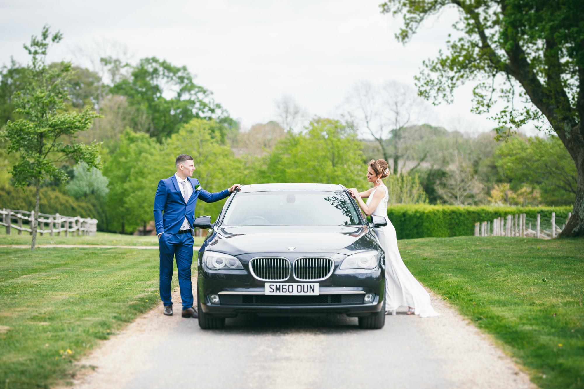 BMW, Bride and Groom Weddings Sussex