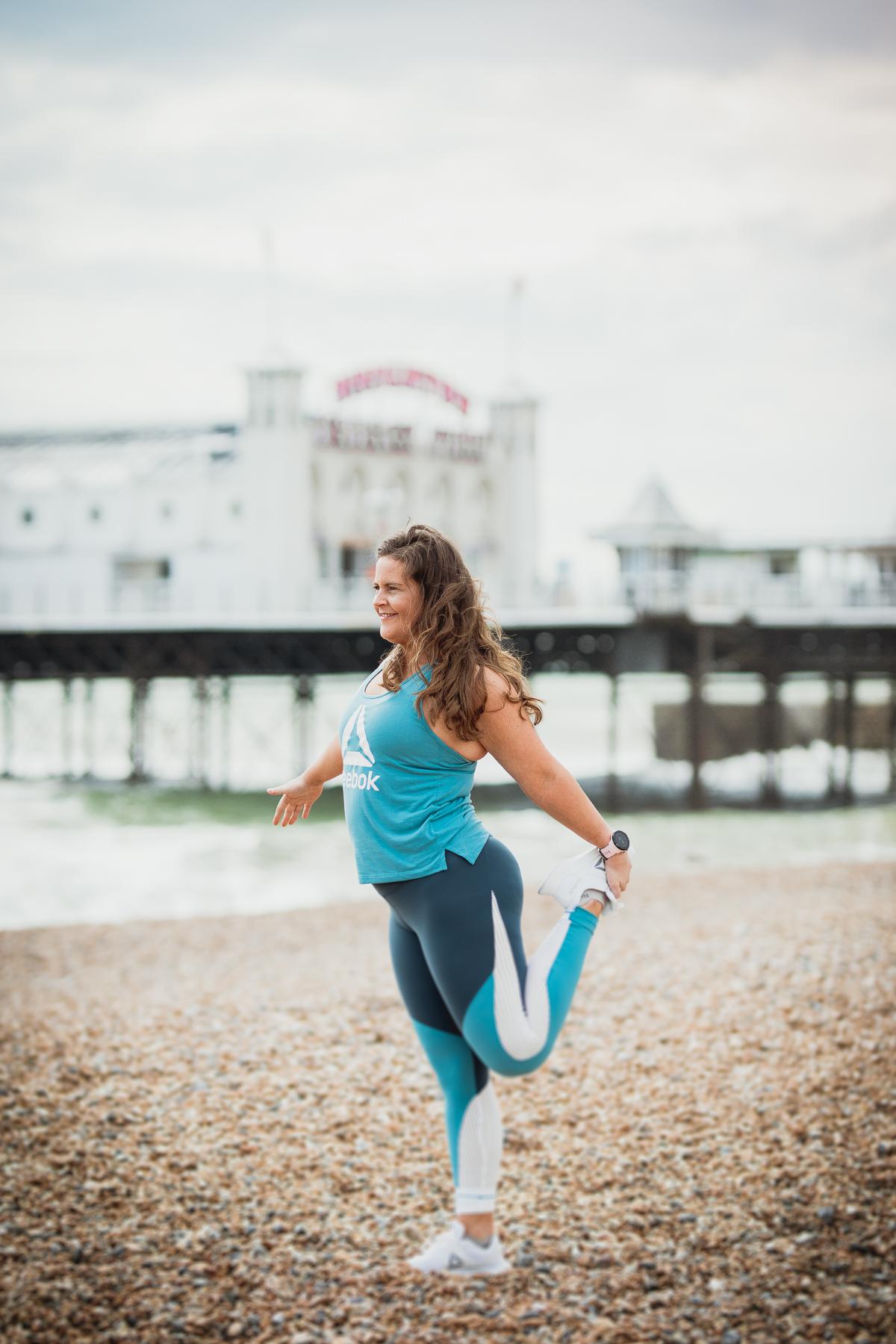 Reebok Women's Lux Block Colour Tight Brighton Beach Working Out Girl