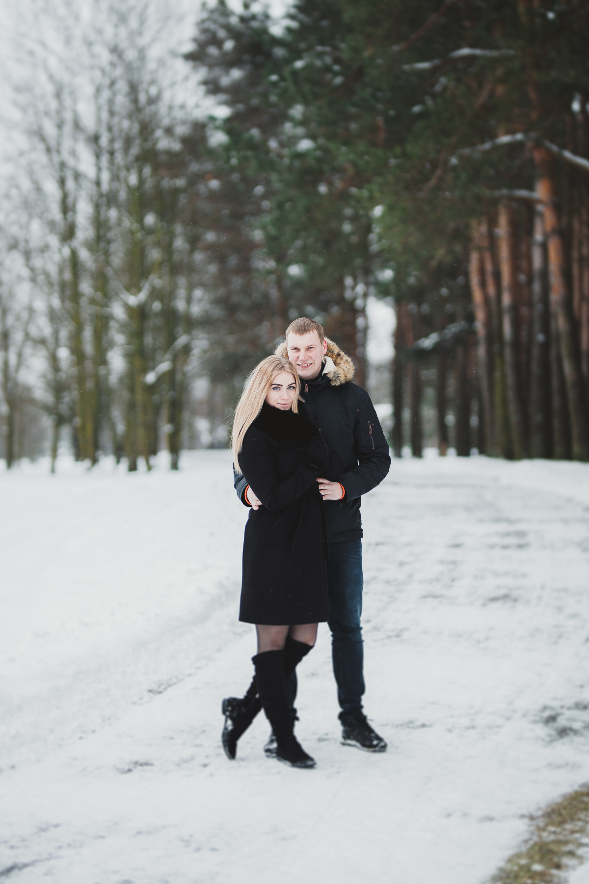 Lithuanian Couple Winter Portrait