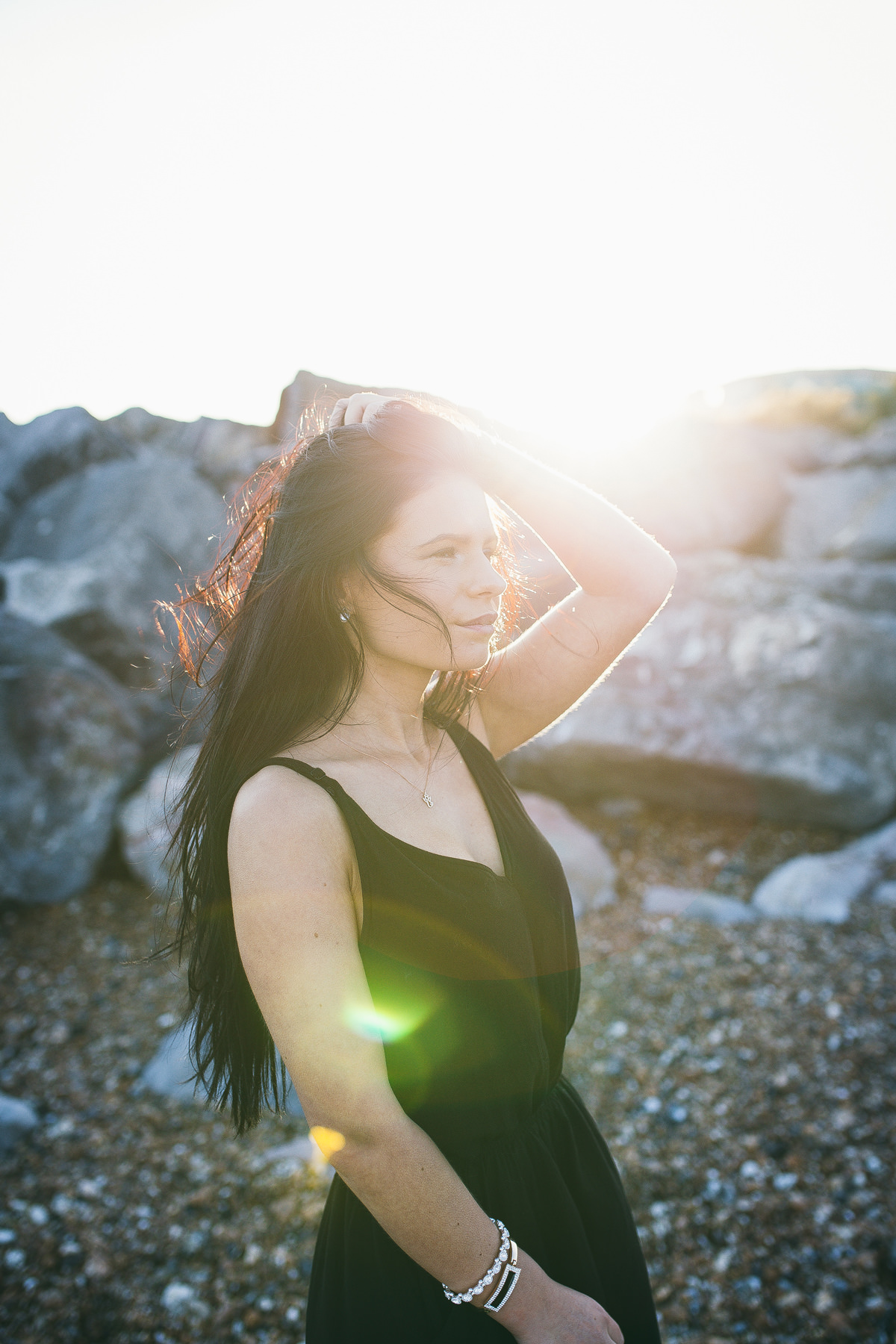 Golden Hour Portrait at Worthing by Sussex portrait Photographer Vilcinskaite Photo