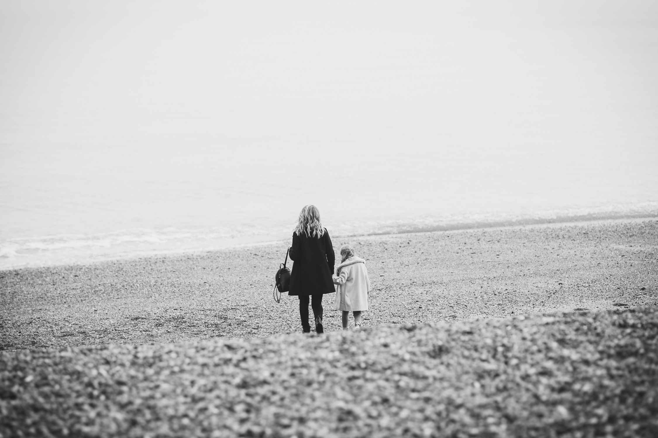Mum and Daughter Walking Together in Brighton Beach Vilcinskaite Photo