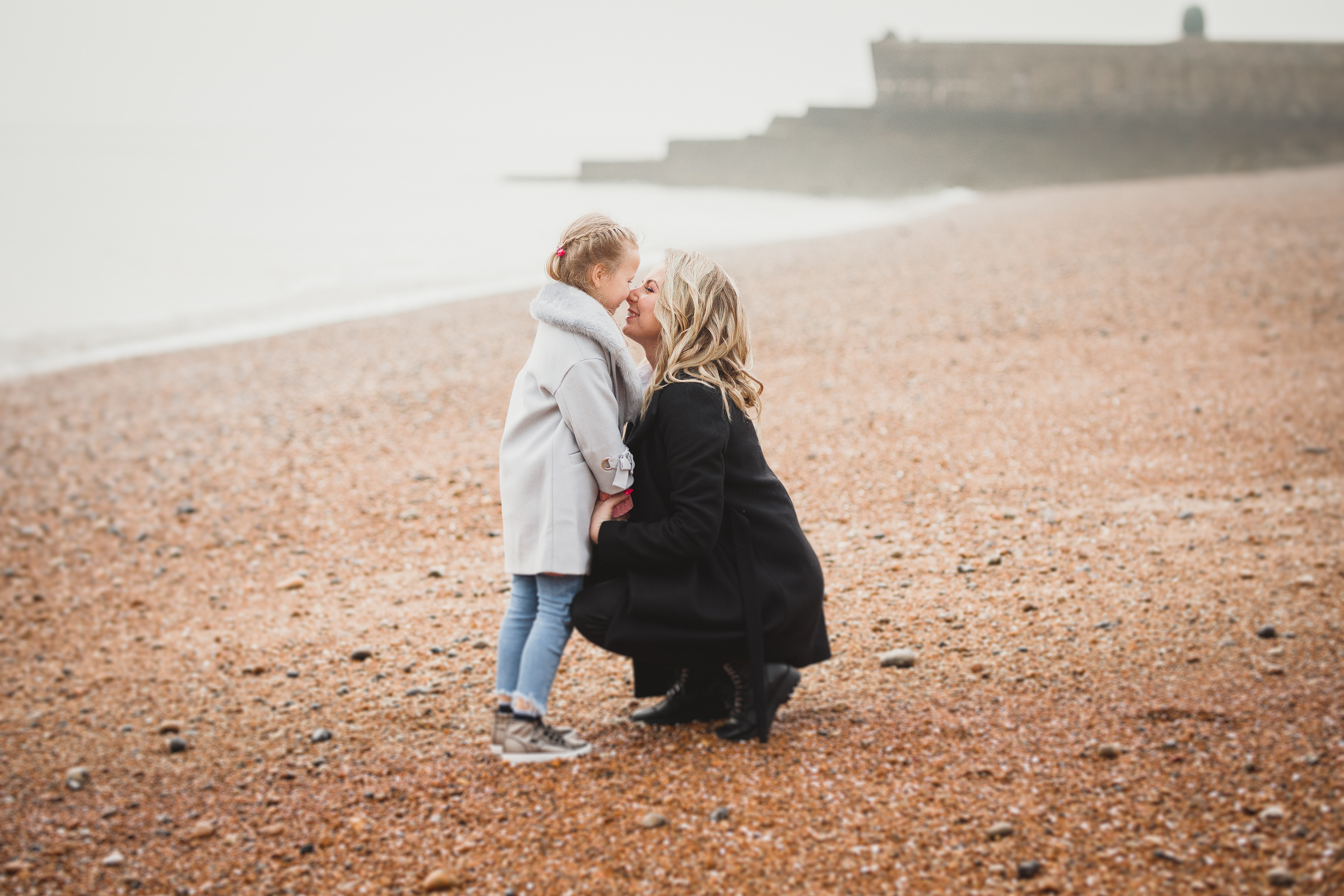 Three Generation Photoshoot Mum and Daughter in Brighton Beach Ieva Vilcinskaite