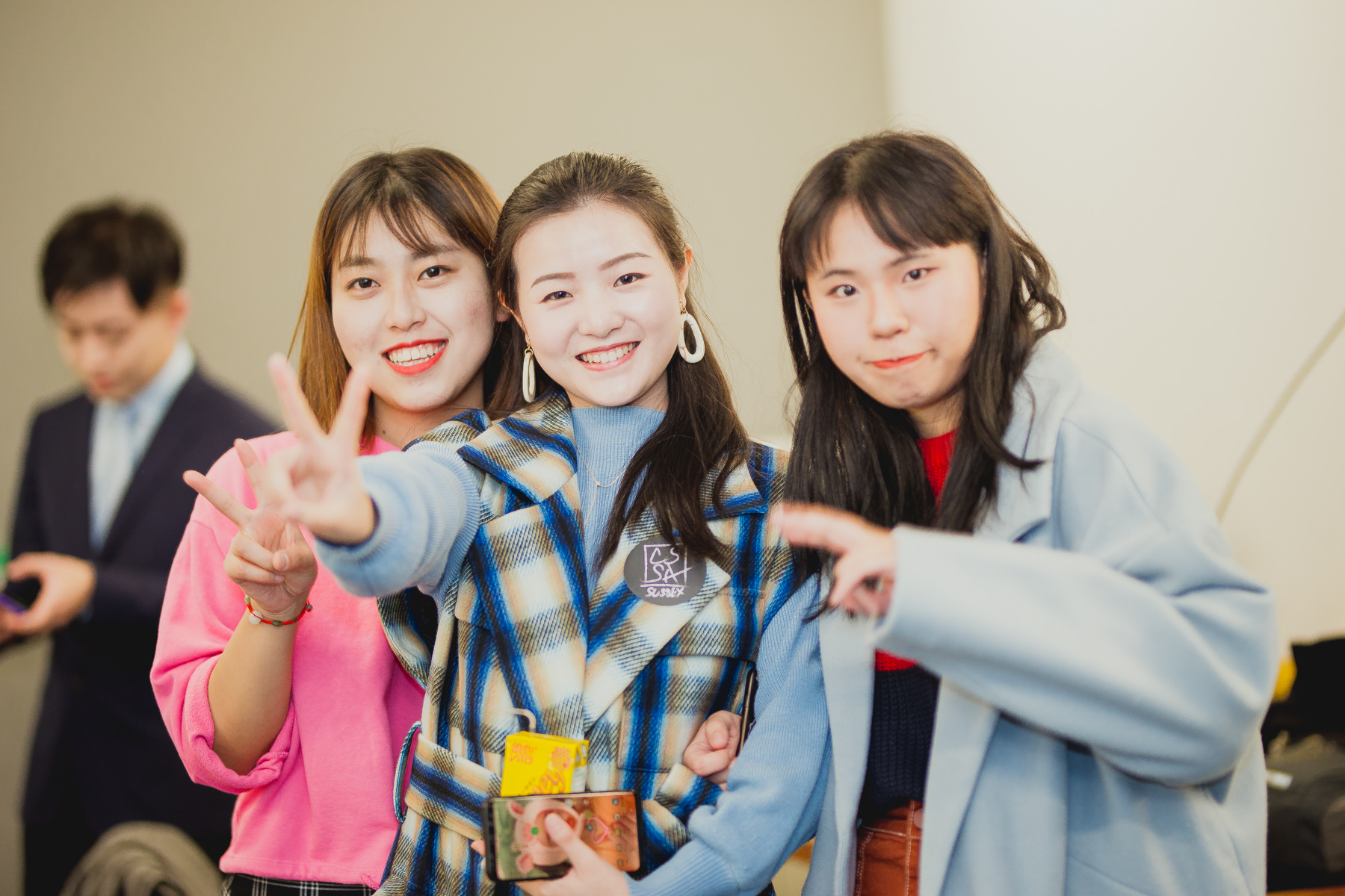 Chinese Girls Posing at University of Sussex