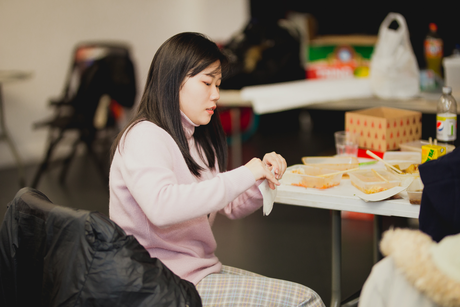 Chinese Girl Voting at University of Sussex