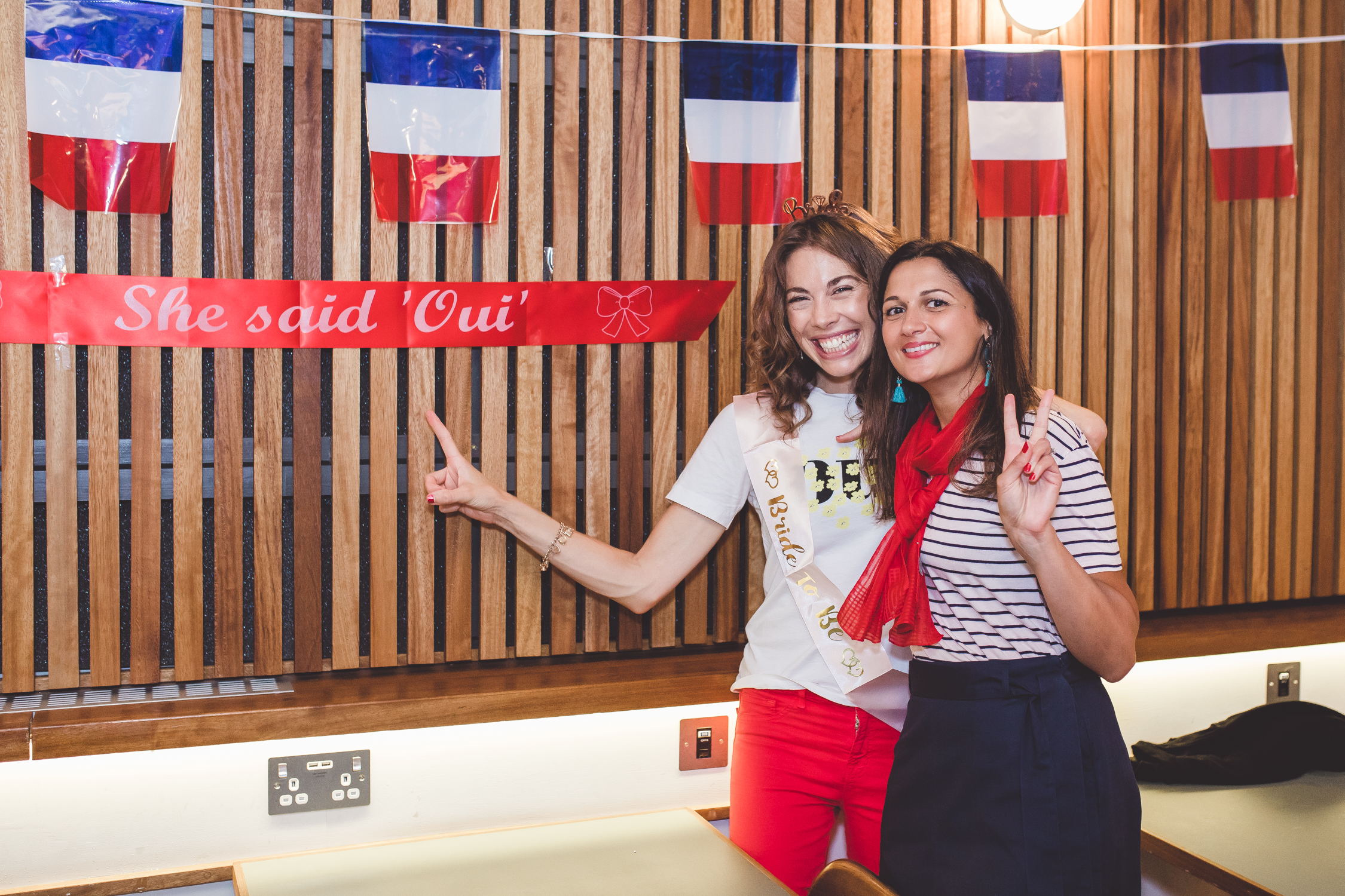 She said Oui with Bride to Be Central London