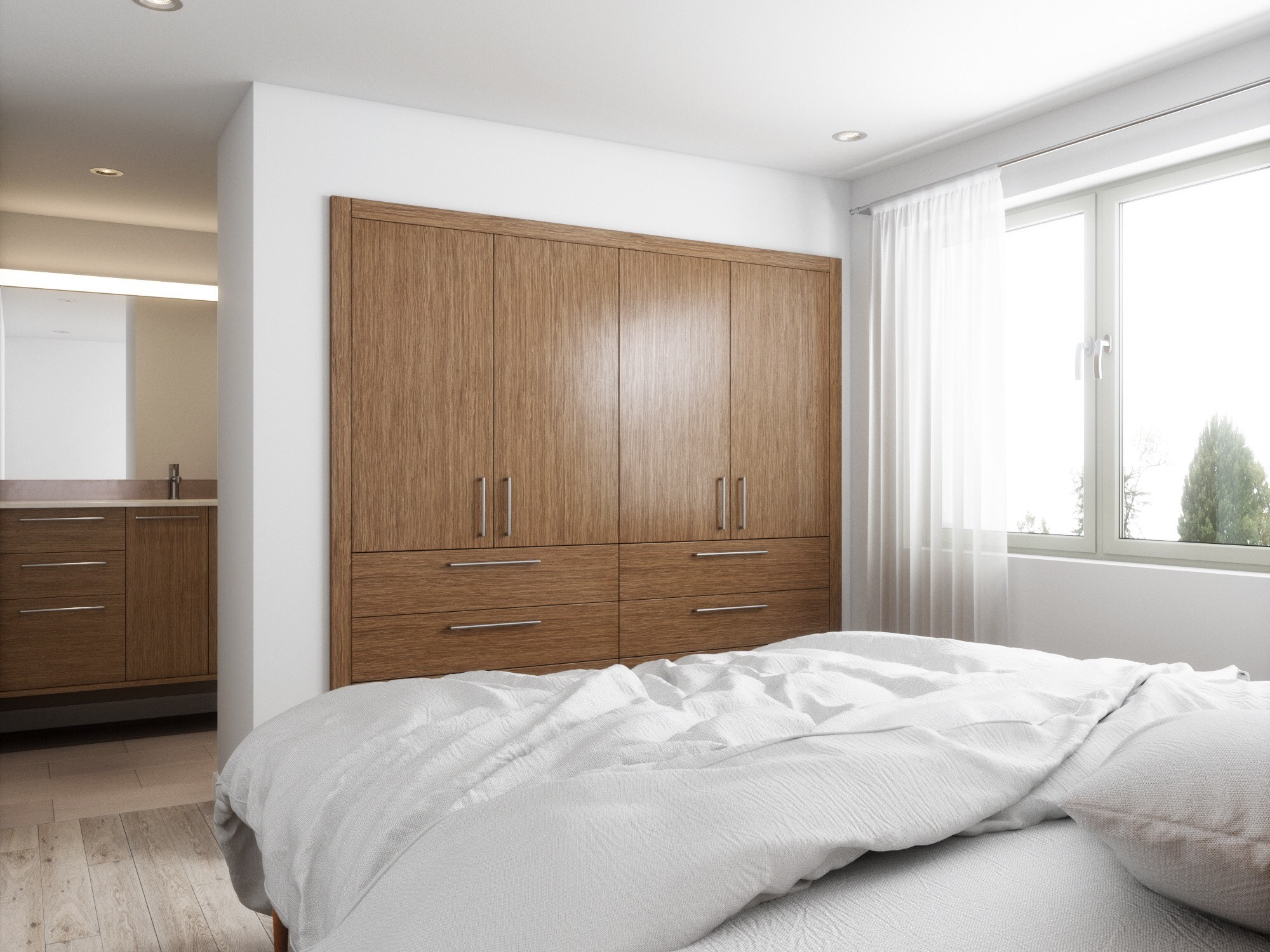 Custom Closets for Hospitality & ADU's - Maximize space and efficiency in hotel rooms and accessory dwelling units with the Hone Closet System, giving travelers and guests a stress-free space to settle in.