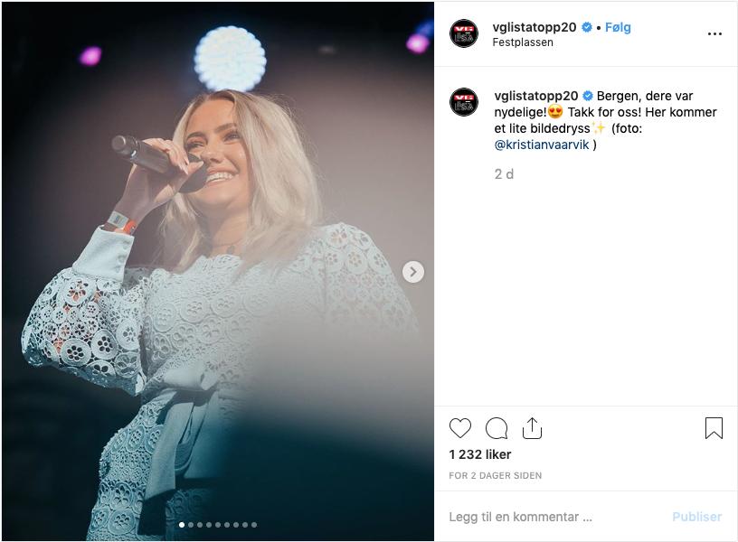 STINA TALLING (16) - YouTube stjerna med 85.000 følgere har den nye BlimE-sangen « Mer Enn God Nok».Hun var en av høydepunktene på VG lista på Rådhusplassen i år og er også med på hele VG-lista turneen.