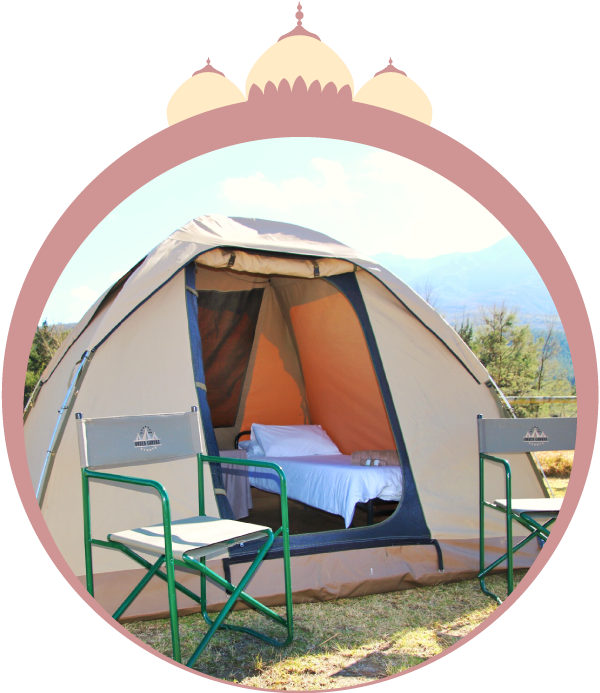 DELUXE TENT: R3540 - Bedding and lights includedSleeps two people