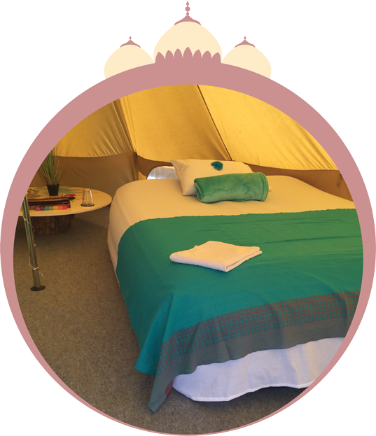 BELLE TENT 5m: R5000 - SOLD OUT - Bedding and lights includedSleeps three people