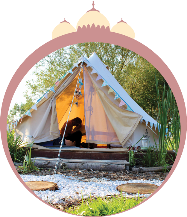 BELLE TENT 3m: R3000 - Bedding and lights includedSleeps one person