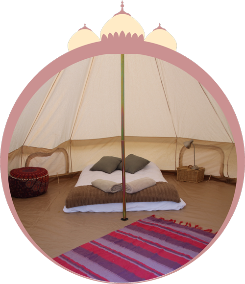 BELL TENTS: R5400 -  6 LEFT - Bedding and lights includedSleeps two people - option for 1 Extra mattress