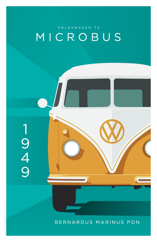 """Bernardus Marinus """"Ben"""" Pon Volkswagen Type 2 Microbus"""