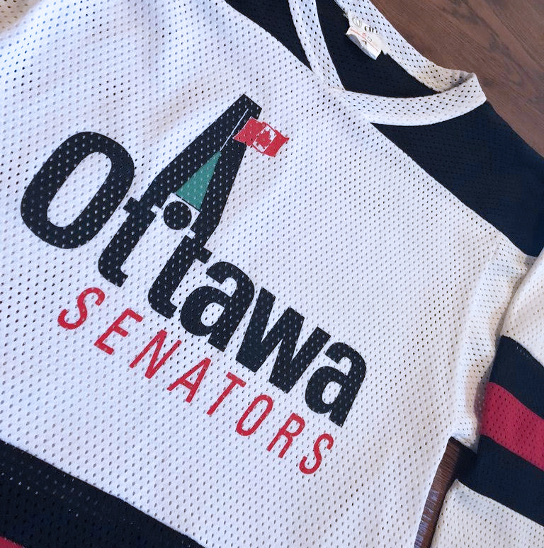 In 1992 the Ottawa Senators returned to the NHL. Although this logo was never used in an actual game, it remains a 'Throwback Thursday' fave.